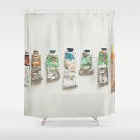 oil Shower Curtains featuring Oil Paints by Cassia Beck