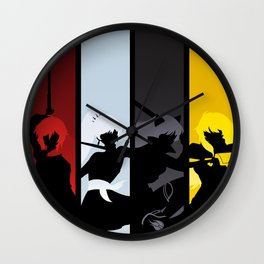 Silhouetted Huntresses Wall Clock