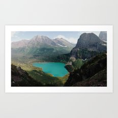 Grinnell Lake, Glacier National Park Art Print