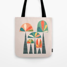 Quirky retro palm trees Tote Bag
