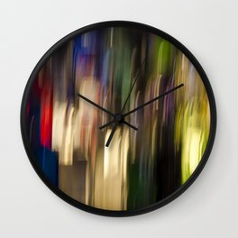 Colorful Bright Light Abstract Wall Clock