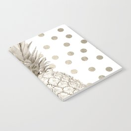 Gold Pineapple Polka Dots 1 Notebook