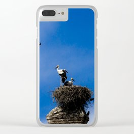 Storks on the nest Clear iPhone Case