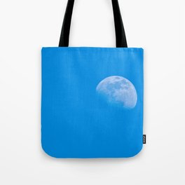 moon in the blue sky Tote Bag