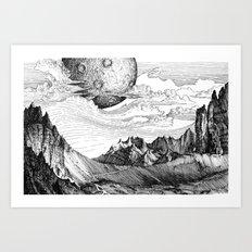 The mountains Art Print