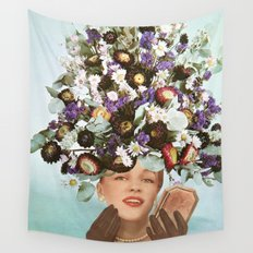 Floral Fashions III Wall Tapestry