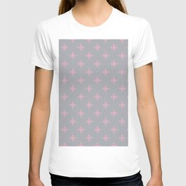 Ornamental Pattern with Grey and Pink Colourway T-shirt
