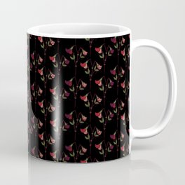 Sweetpeas of Summer - Black Coffee Mug