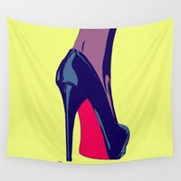shoe Wall Tapestries featuring Shoe by Giuseppe Cristiano