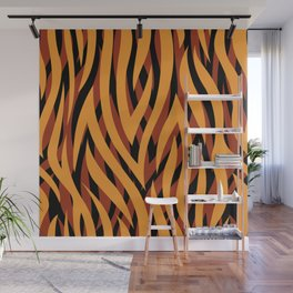 Large Golden Brown Tiger Animal Print Wall Mural