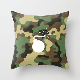 CAMO & WHITE BOMB DIGGITY Throw Pillow
