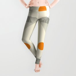 Abstraction_NEW_BIRD_FLY_LINE_POP_ART_033A Leggings
