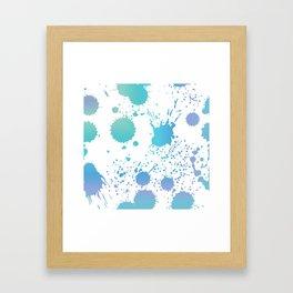 Paint Splash Framed Art Print