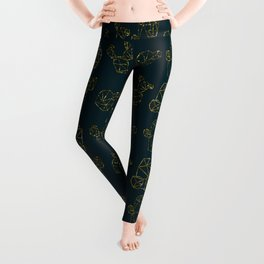golden cactus Leggings