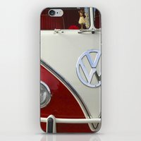volkswagen iPhone & iPod Skins featuring Samba microbus hippiebus Volkswagen by Premium