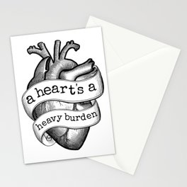 A Heart's A Heavy Burden Stationery Cards