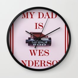 Wes Anderson Wall Clock