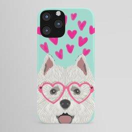 Westie west highland terrier white valentines day dog lover pet valentine iPhone Case