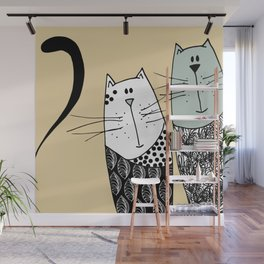 Mr & Mrs Cat Wall Mural