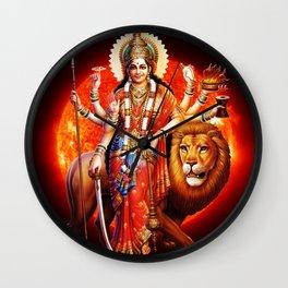 Hindu Durga 8 Wall Clock