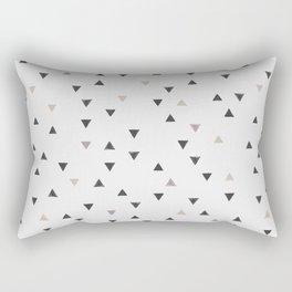 DOWN UP / scandi white / warm grey / flax / lavender Rectangular Pillow