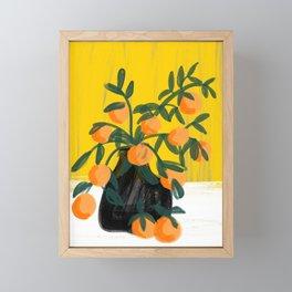 Oranges in Vase No 02 Framed Mini Art Print