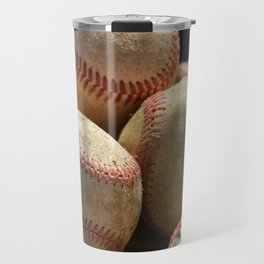 Baseballs and Glove Travel Mug