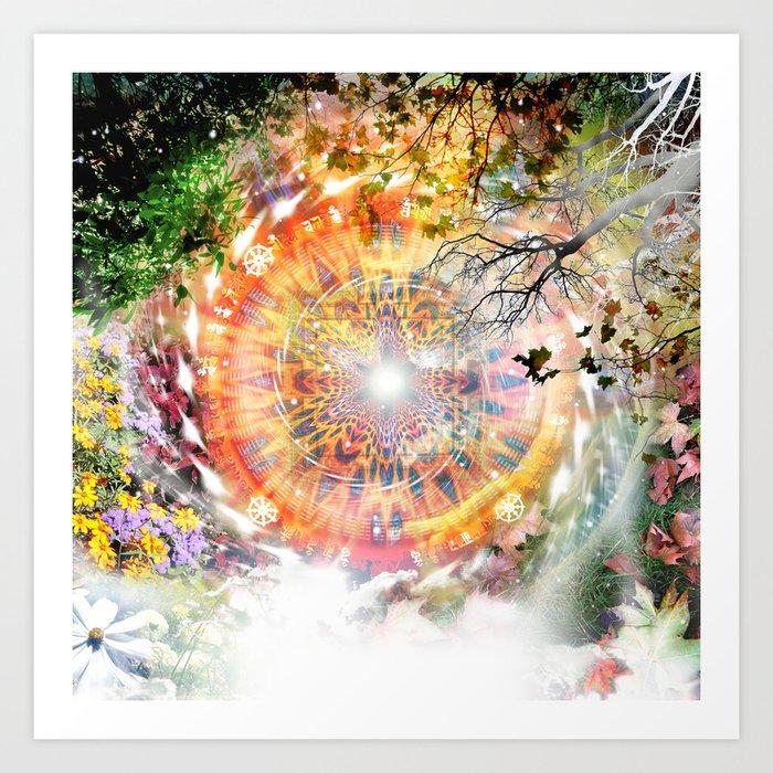 Seasons Mandala Art Print