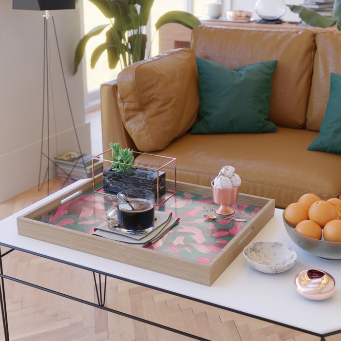 Vivacity in Pink Serving Tray