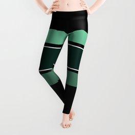 Team Colors 2...dk.green.light green , lighter green Leggings