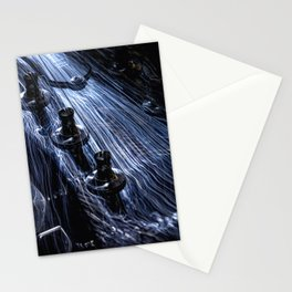 Hot Head fiber optic lights on the head of a guitar Stationery Cards