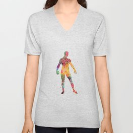 Circuit board man Unisex V-Neck