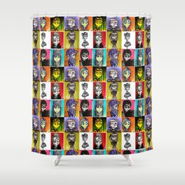 The Ghoulish Bunch Shower Curtain