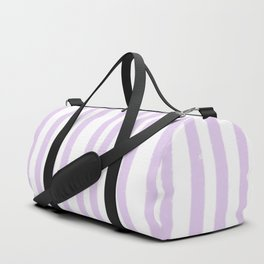 Lavender Stripes Duffle Bag