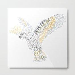 Geometric Cockatoo Metal Print
