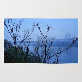 George Washington Bridge in Fog Rug