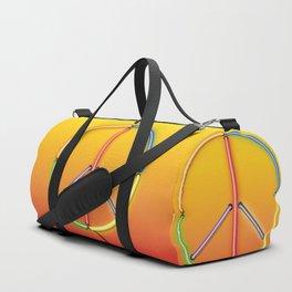 PEACE Sign Neon Duffle Bag