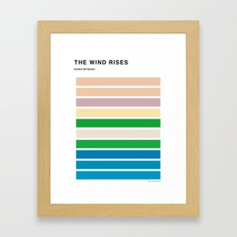 The Colors of the wind rises Framed Art Print
