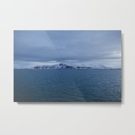 Snow-Capped Mountain, Iceland – Landscape Photography Metal Print