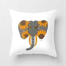 Nature Elephant Throw Pillow