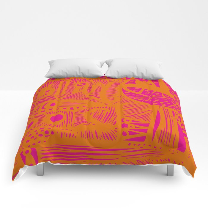 INK#9 Dreaming of India Comforters