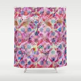 Pink Florals Shower Curtain