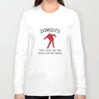 zombies Long Sleeve T-shirts featuring Zombies by AmazingVision