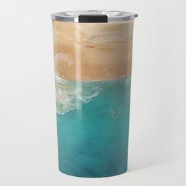 Ocean & Beach Aerial View Travel Mug