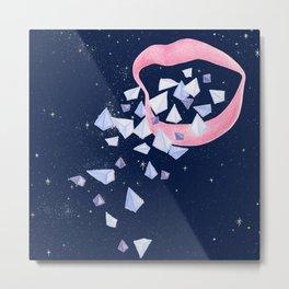 Your words are diamonds Metal Print