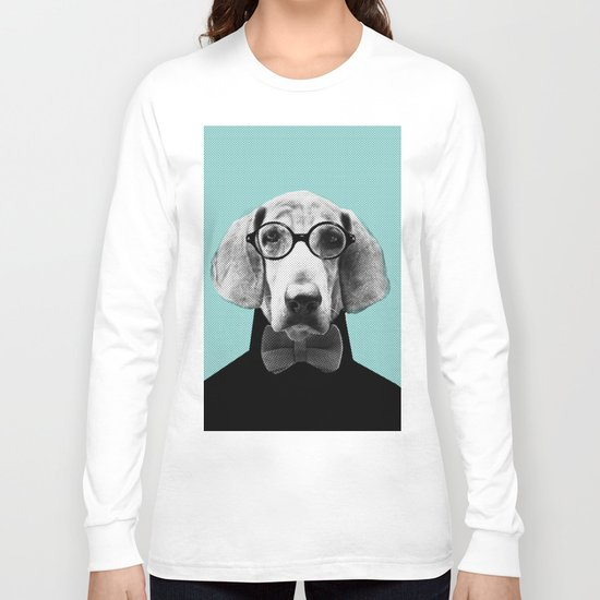 Mr Italian Bloodhound the Hipster Long Sleeve T-shirt