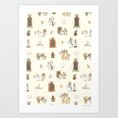 The Holy Grail Pattern Art Print