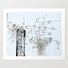 Tower Block Art Print