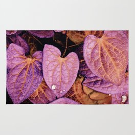 Fallen Leaves With Dew Rug