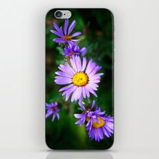 Purple Floral iPhone Skin